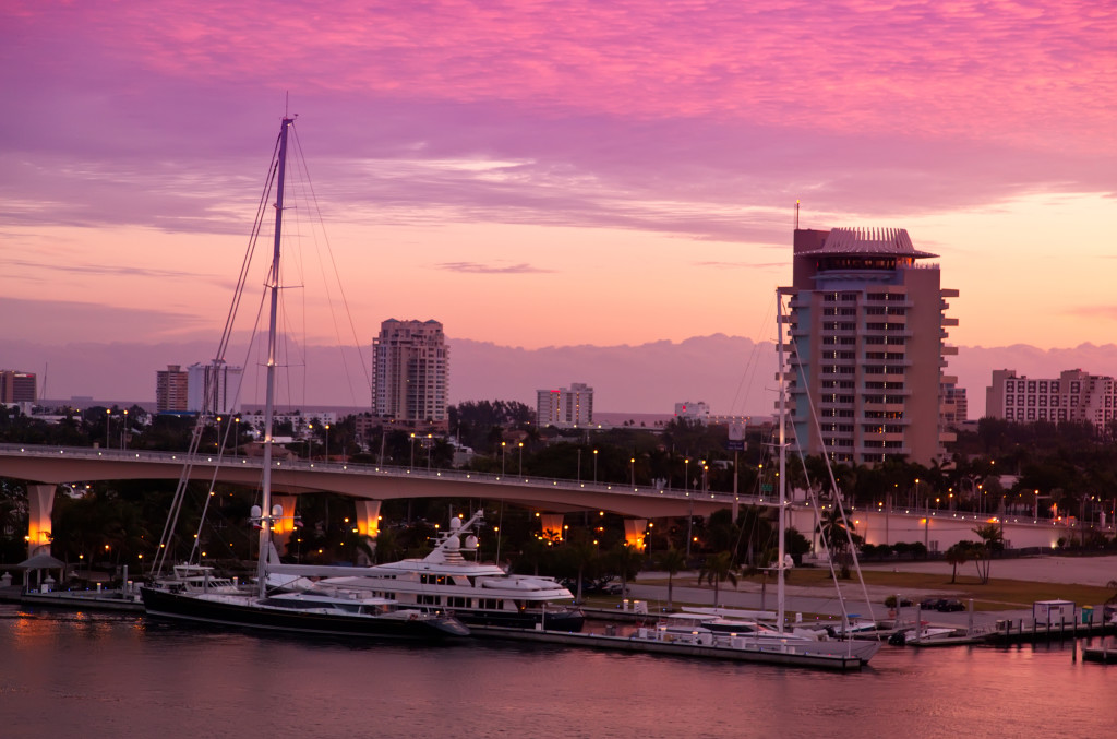Sunrise in Fort Lauderdale, Florida